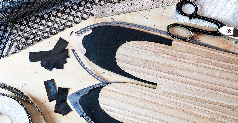 sci ski handmade handcraft wood