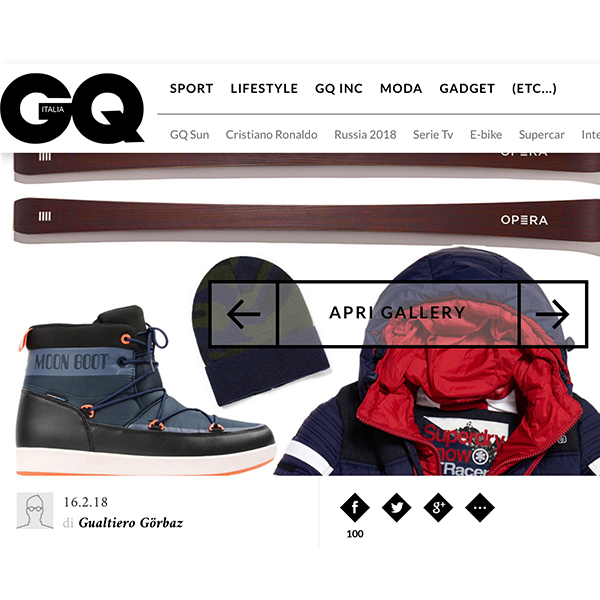 operaskis selected product for gq Italia