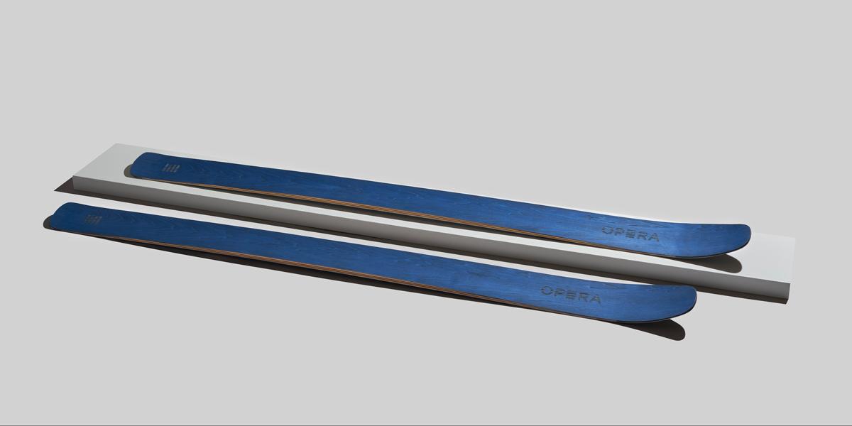 operaskis opera sci freeride art 112 in finitura frassino blu