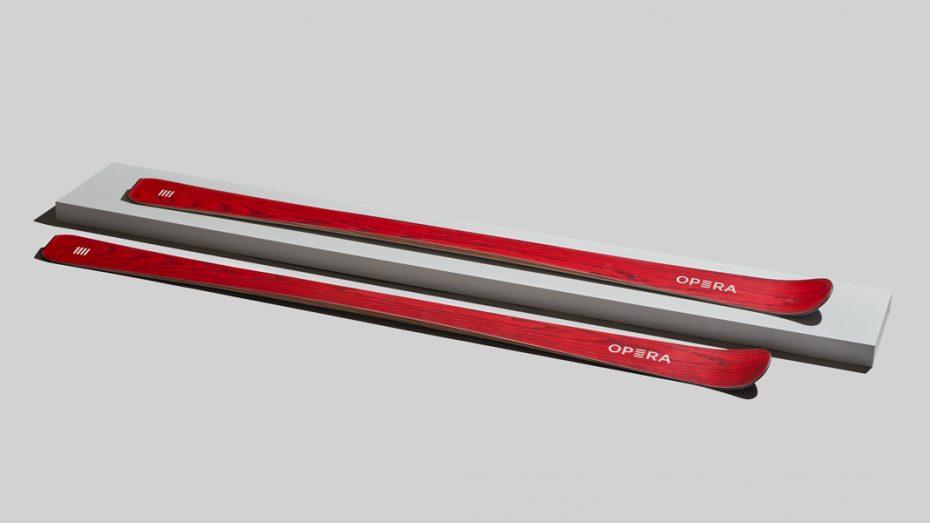 sci da pista in legno rosso | art65 | OperaSkis