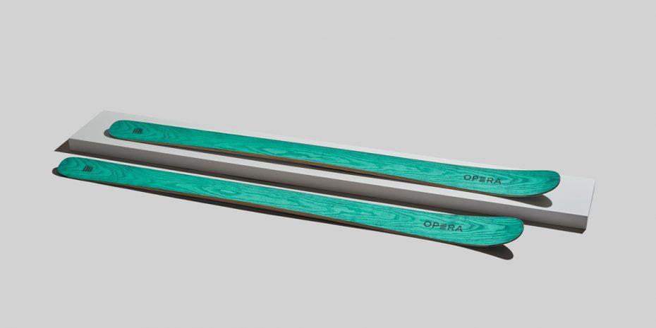 sci da scialpinismo in legno verde | art87 | OperaSkis