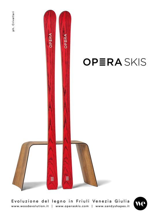 pagina dedicata a Opera Skis sulla rivista di architettura e design vista casa