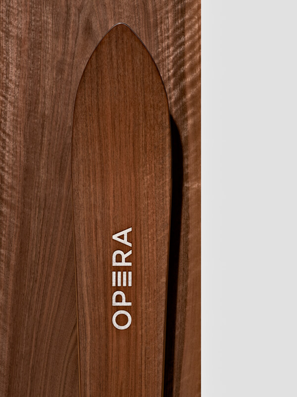 Operaskis natural wood finish   walnut wood