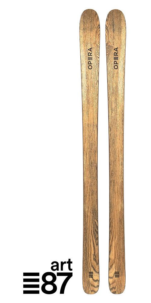 sci da scialpinismo in legno naturale | art87 | OperaSkis