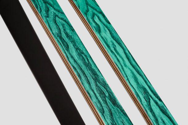 sidewall degli sci in tecnologia bamboo ply
