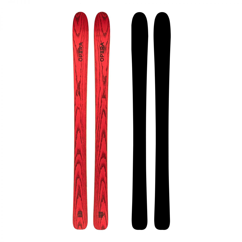 Sci freeride race in legno rosso | Art 106 | OPERA Skis