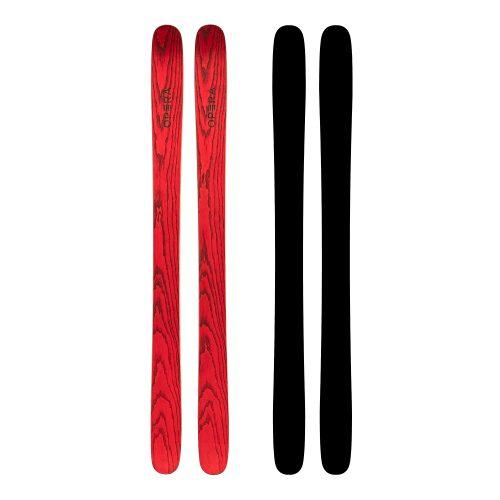 Sci Powder freestyle in legno rosso | Art 111 | OPERA Skis