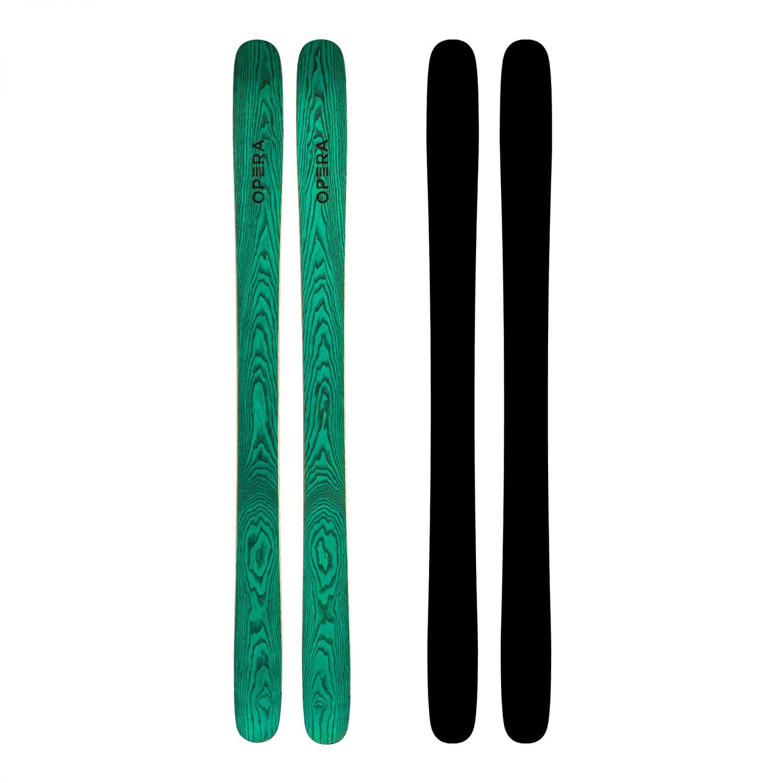 Powder freestyle skis in green wood | Art 111 | OPERA Skis