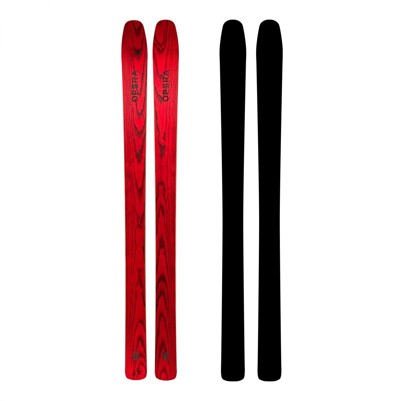sci big mountain in legno rosso | art112 | OperaSkis