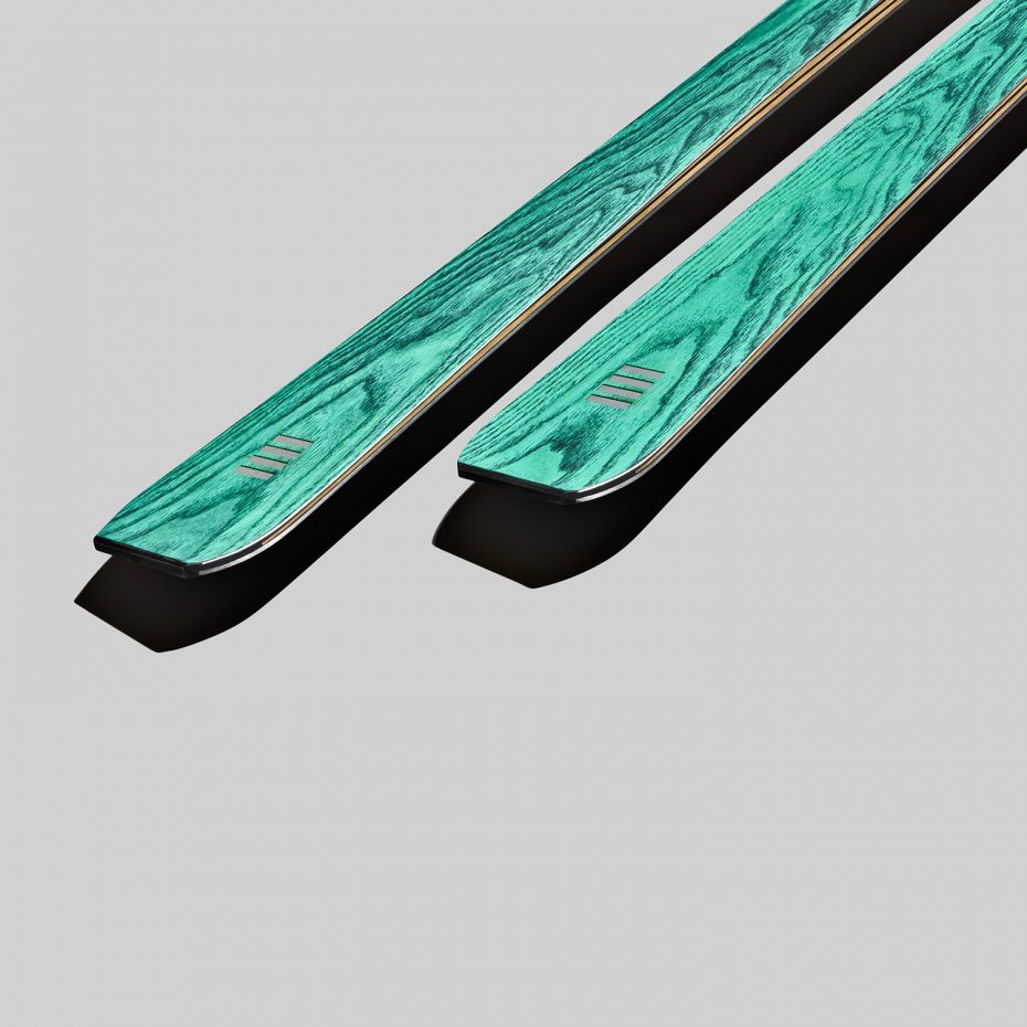 alpine race carve skis in green wood | art65 evo | OperaSkis