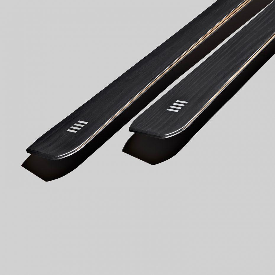 alpine skis in black wood | art 72 | OperaSkis