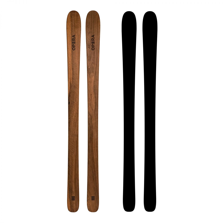 sci da scialpinismo in legno naturale di noce | art87 | OperaSkis