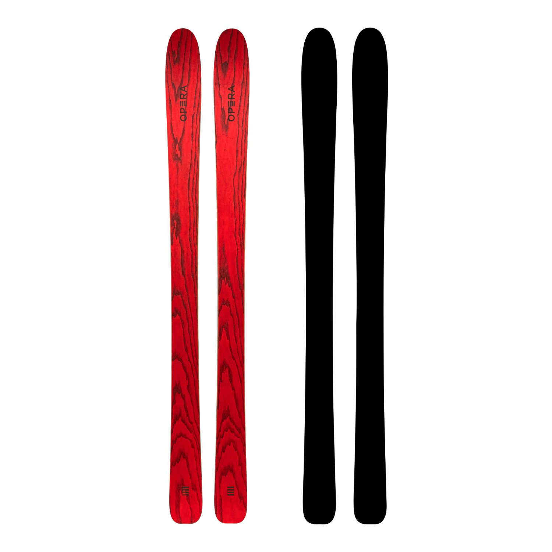 All mountain freeride ski in red wood | Art96 | OperaSkis