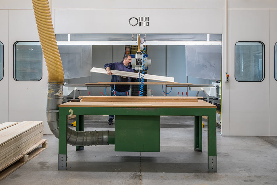 """Alessandro Marchi """"Sandy"""" at the OPERA Skis factory"""