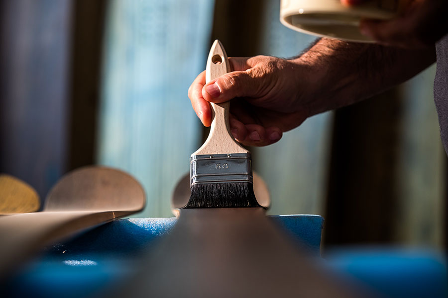 Final hand waxing